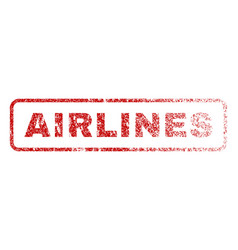 Airlines rubber stamp vector