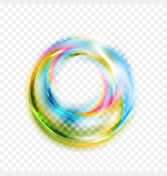 colorful glowing shiny abstract circles on vector image vector image
