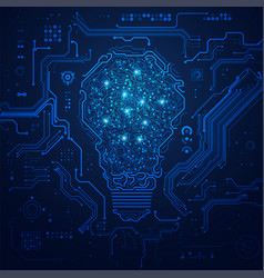 electronic lightbulb vector image