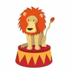 Lion circus cartoon vector image vector image