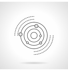 Solar system model flat line icon vector image vector image