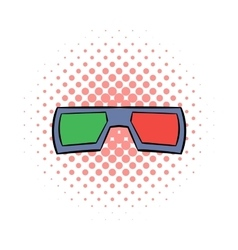 3D glasses comics icon vector image