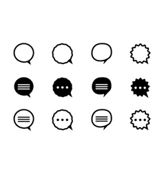 black and line speech bubble vector image vector image