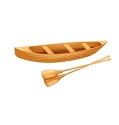 Canoe on white vector image