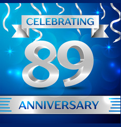 Eighty nine years anniversary celebration design vector