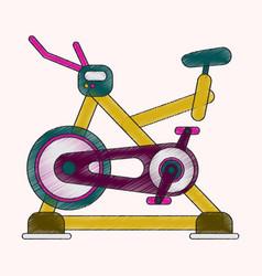 flat shading style icon bicycle exercise vector image