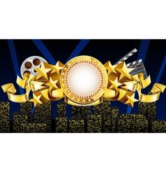 golden movie theme vector image vector image