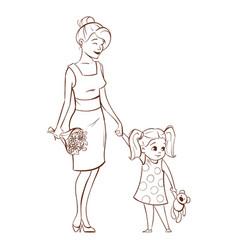 happy mother vector image