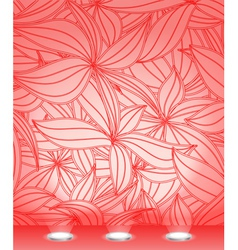 Illuminated wall template vector image vector image