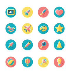 kids toys and objects vector image