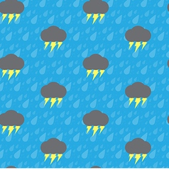 Seamless thunderbolt and raindrop vector image