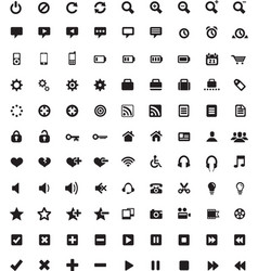 Set of Universal icons 4 vector image vector image