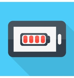 Smartphone Flat design Battery icon vector image