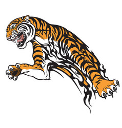 tiger tribal vector image vector image
