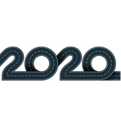 2020 year vector image