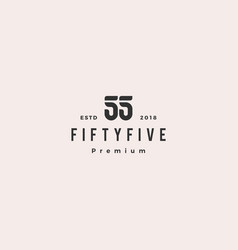55 fifty five number logo icon sign vector image