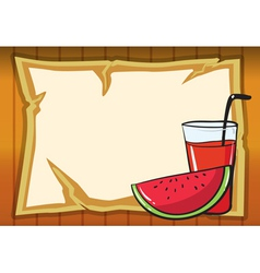 a watermelon and juice vector image