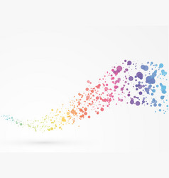 abstract wave dots background rainbow colors vector image