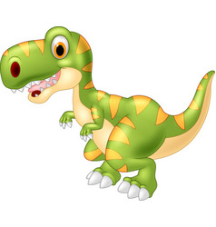 adorable dinosaur tyrannosaurus isolated on transp vector image