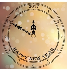 antique clock fac vector image