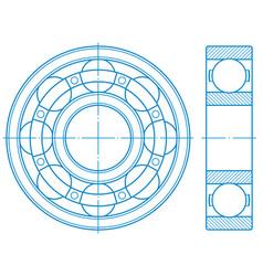ball bearing contour design vector image