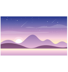 beautiful sunset in vector image