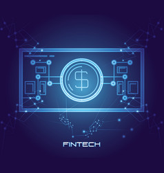 Bill money financial technology icon vector