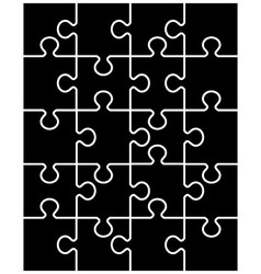 Black puzzle separate parts vector