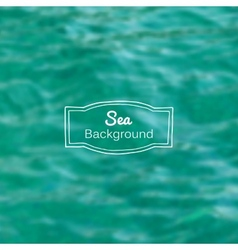 blurred nature sea blue background vector image