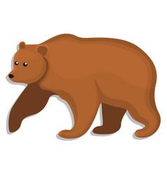 brown bear icon cartoon style vector image