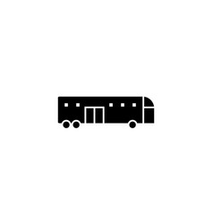 bus icon solid vehicle and transportation icon vector image