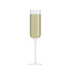 Champagne glass icon flat style vector