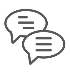 chat line icon message and communication speech vector image