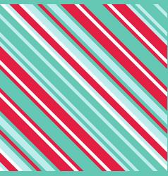 christmas diagonal striped seamless pattern vector image
