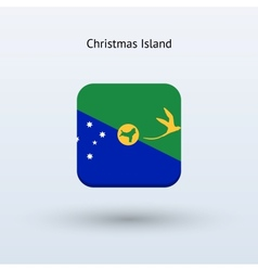 Christmas Island flag icon vector