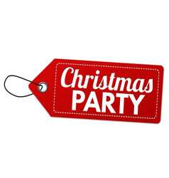 christmas party label or price tag vector image