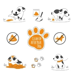 Clean up after your dog vector