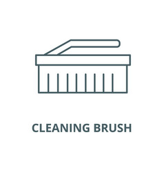 cleaning brush line icon cleaning brush vector image