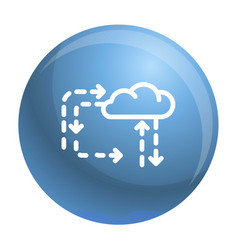 Cloud direction icon outline style vector