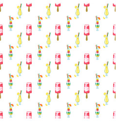 cocktails poured in glasses party seamless pattern vector image