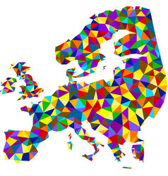 Colorful mosaic abstract europe map vector