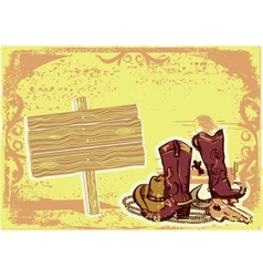 cowboy elements vector image vector image