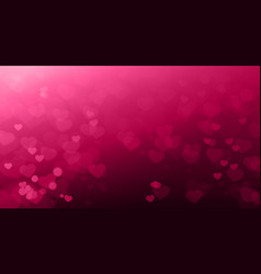 creative valentines day backgruond blurred hearts vector image