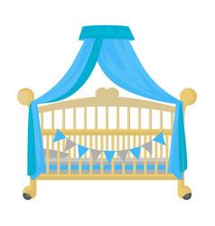Crib iconcartoon icon isolated on vector