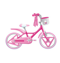 Cute kids bicycle for a girl vector