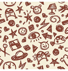 Cute seamless pattern vector