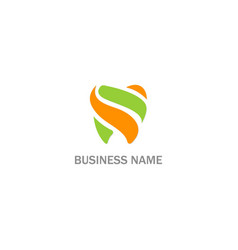 dentist tooth abstract business logo vector image