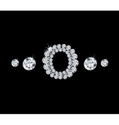 Diamond alphabetic letter O vector image
