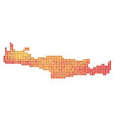 Dot fire crete island map vector