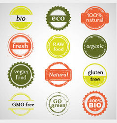 eco labels collection vector image